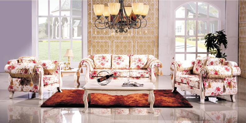 实木 欧式田园沙发 F8010-B,欧堡娜,家具,客厅,沙发