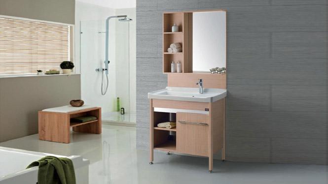 GD-9612E 不锈钢洗衣柜 简约现代落地浴室柜 洗手盆柜组合 815mm