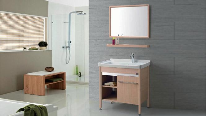 GD-9612D 洗衣柜组合阳台带搓板304不锈钢浴室柜落地卫浴柜洗脸盆池 815mm