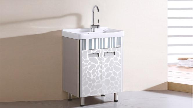 TB-5804 不锈钢洗衣柜石英石304 洗衣柜洗衣盆洗衣柜 600mm