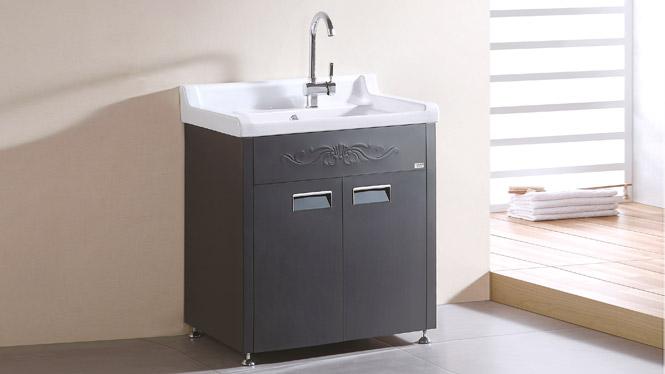 TB-5803 不锈钢洗衣柜 石英石斜搓衣板浴室卫浴柜组合 700mm