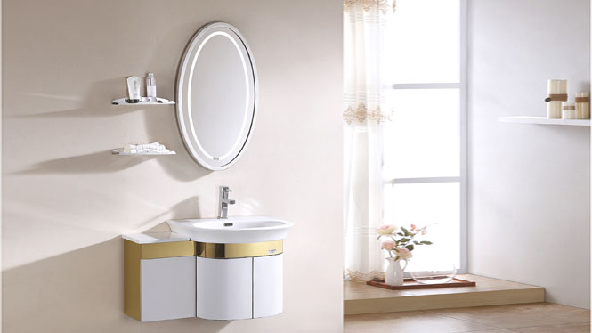TB-3005 SUS304不锈钢浴室柜组合 洗脸盆柜组合 卫浴洗手盆柜 800mm
