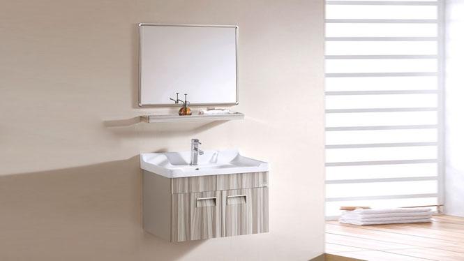 TB-5001简约不锈钢镜柜浴室柜组合挂墙式洗脸洗手盆柜卫浴柜 708mm