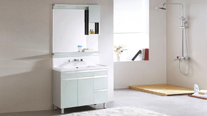 TB-8005 不锈钢浴室柜组合 落地 卫浴柜立柜 洗手洗脸盆柜 990mm
