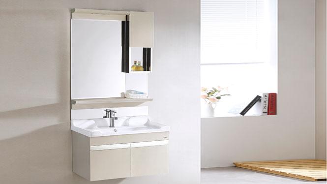 TB-8012 不锈钢浴室柜组合洗手盆挂墙式现代简约吊柜 810mm