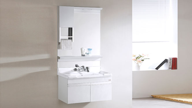 TB-8013 不锈钢浴室柜挂墙式洗手洗脸盆柜组合 带镜柜 815mm
