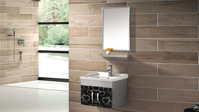 挂墙式洗手盆柜组合卫浴柜 不锈钢浴室柜T-9460  800mm600mm700mm