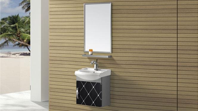 挂墙式不锈钢浴室柜组合 洗手盆柜组合T-9447B  450mm
