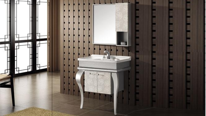 不锈钢浴室柜组合落地式洗脸洗手盆柜卫浴柜T-9416C  800mm
