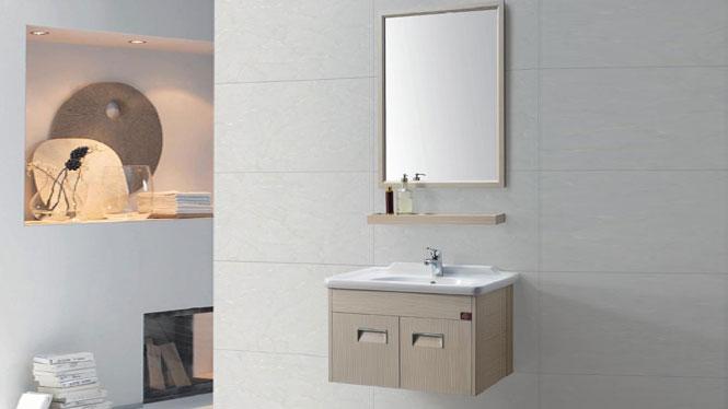 太空铝浴室柜组合 一体陶瓷洗手洗脸盆柜防腐吊柜卫浴柜GD-9604  700mm