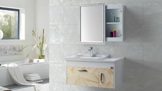 太空铝浴室柜组合 正品卫浴柜洗脸盆柜洗手盆柜 挂墙式GD-9607 900mm