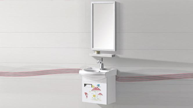 太空铝浴室柜组合 卫浴柜洗脸盆柜洗手盆柜 挂墙式T-9705  450mm