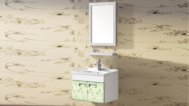 太空铝浴室柜组合 正品卫浴柜洗脸盆柜洗手盆柜 挂墙式T-9712  600mm