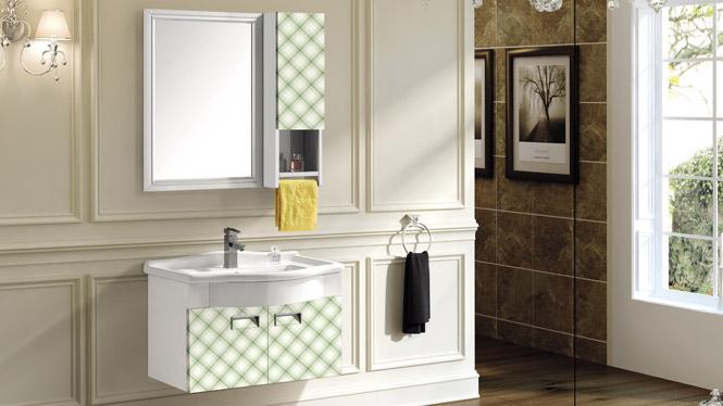 太空铝挂墙式浴室柜组合 面盆组合柜 洗漱台洗脸台组合T-9716  800mm