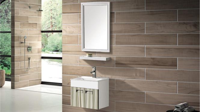太空铝浴室柜组合卫浴柜洗脸盆柜卫生间洗手盆柜 镜柜挂墙T-9726  500mm