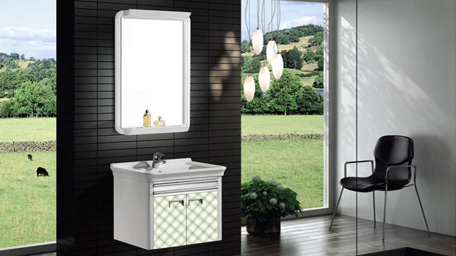 太空铝浴室柜组合 洗脸盆柜洗手盆柜 挂墙式T-9730  600mm