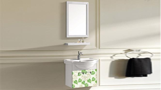 太空铝小户型浴室柜 浴室吊柜 挂墙洗手洗脸盆柜T-9733  600mm