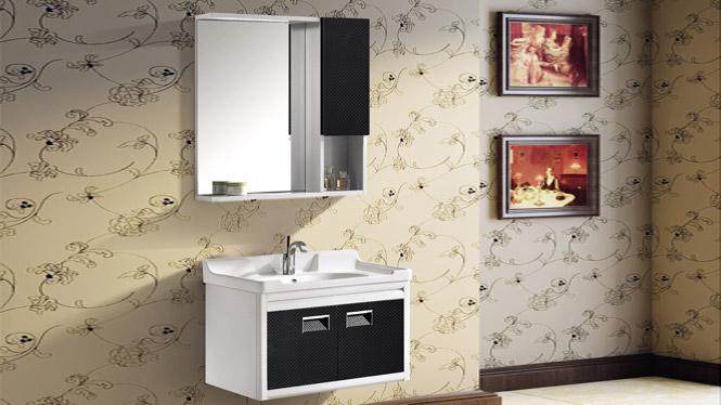 太空铝浴室柜组合 正品卫浴柜洗脸盆柜洗手盆柜 挂墙式T-9751  800mm