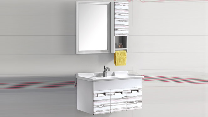 太空铝浴室柜 浴室柜 挂墙柜 洗脸盆浴室柜组合T-9761  900mm1000mm