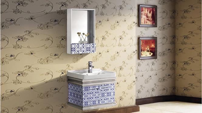 太空铝浴室柜组合 卫浴洁具洗手盆卫生间挂墙洗脸台T-9769  600mm