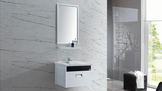 太空铝浴室柜组合 正品卫浴柜洗脸盆柜洗手盆柜 挂墙式GD-9601 600mm