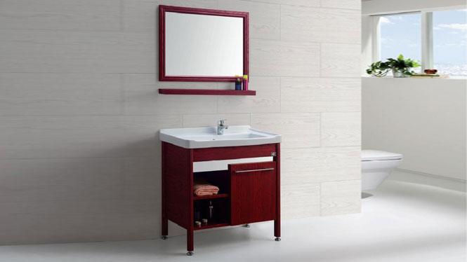 太空铝洗衣柜柜盆 铝材卫浴柜 落地洗手盆 洗衣陶瓷盆GD-9612C  715mm