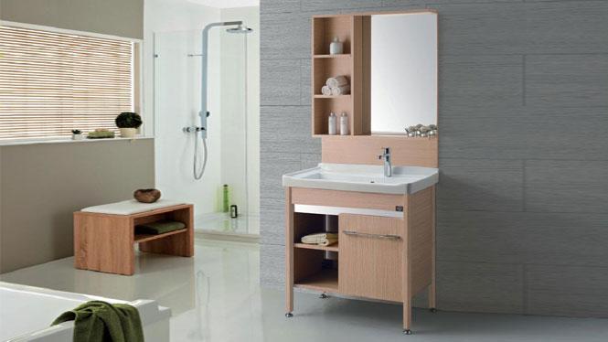 落地洗衣柜 陶瓷洗面盆柜 太空铝卫浴柜 洗手盆洗脸盆柜组合GD-9612E  815mm
