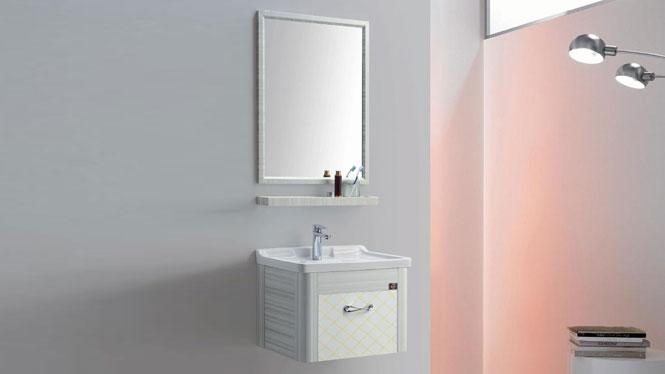 太空铝浴室柜组合 正品卫浴柜洗脸盆柜洗手盆柜 挂墙式GD-9613  610mm