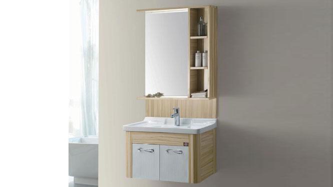 太空铝浴室柜 浴室柜 挂墙柜 陶瓷盆 面盆 洗手盆 洗脸盆GD-9614B  710mm
