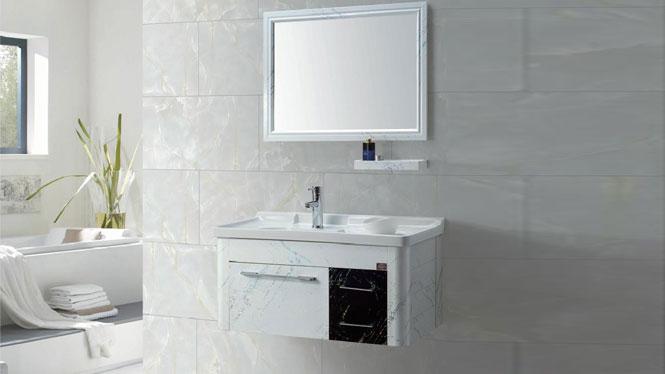 太空铝洗衣柜 浴室柜 挂墙柜 陶瓷盆 欧式 洗手盆 洗脸盆GD-9616  910mm