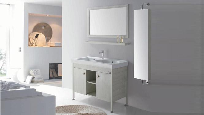 落地洗衣柜 陶瓷洗面盆柜 太空铝卫浴柜 洗手盆洗脸盆柜组合GD-9633B  1020mm