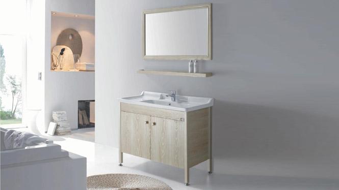 太空铝浴室柜落地 一体陶瓷面盆 卫浴柜洗手盆洗脸台GD-9634  1020mm