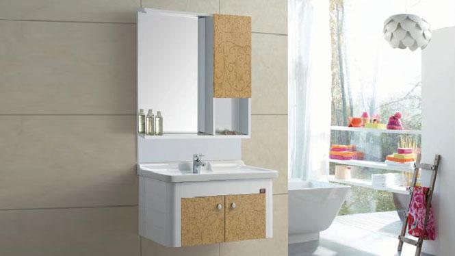 太空铝浴室柜 浴室柜 挂墙柜 陶瓷盆 面盆 洗手盆 洗脸盆GD-9615B  810mm