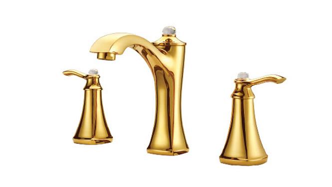 浴室金色脸盆龙头 冷热水厨房龙头 全铜水龙头  DP31002A