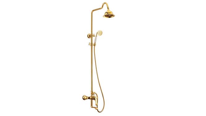 金色多功能淋浴水龙头 浴室全铜手持花洒淋浴套装 DP31007A
