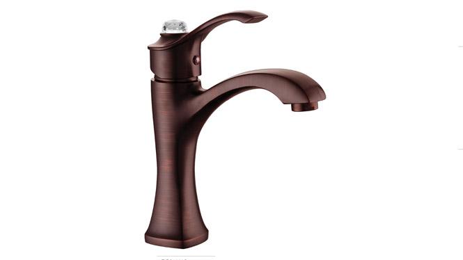 古铜带钻脸盆龙头 批发浴室仿古面盆龙头 欧式经典 DP31001B