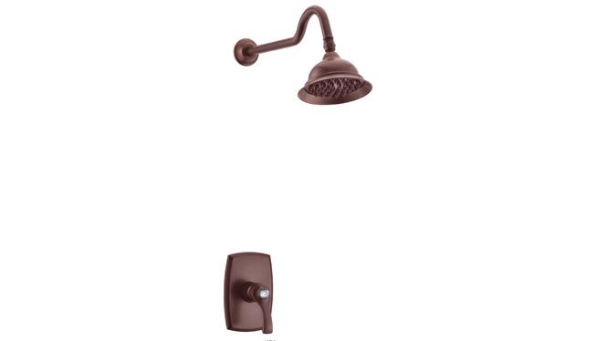 古铜色单功能暗装花洒 浴室淋浴套装入墙式水龙头 DP31009B