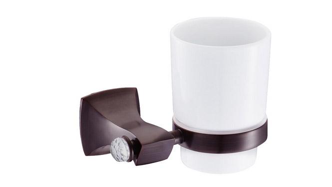古铜带钻单杯 全铜牙刷架 批发漱口杯套装 水杯架 DP3101B
