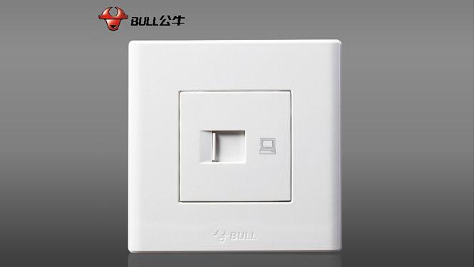 插座开关面板墙壁电脑网插一位网络网线接口RJ45雅白G06T102