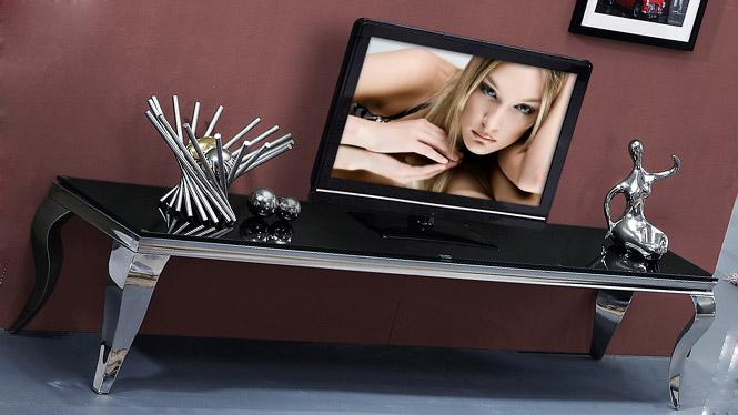 大理石电视柜 简约现代不锈钢化玻璃茶几 电视柜组合套装