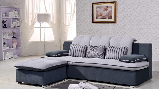 布艺沙发 小户型沙发 简约现代皮布沙发 三人沙发 客厅家具 沙发 BW-140101