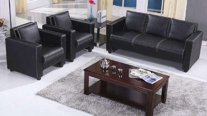 真皮沙发 头层真皮沙发 现代简约风格小户型沙发