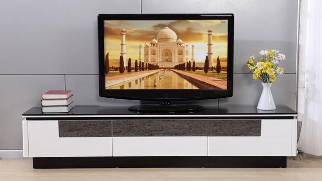 现代简约烤漆电视柜伸缩玻璃电视柜面包地柜电视