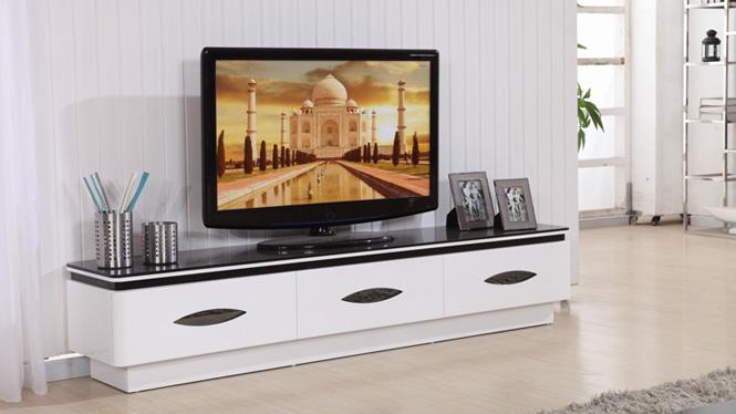 客厅家具 现代简约烤漆电视柜 钢化玻璃电视柜组合 地柜墙柜