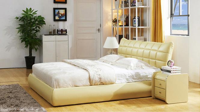 真皮软床1.8米储物双人床皮艺婚床现代简约 真皮床