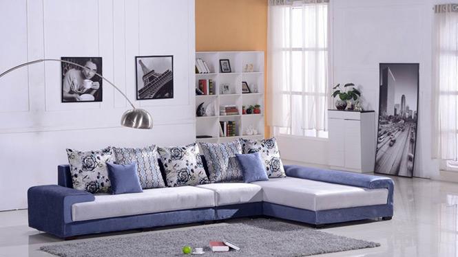沙发 简约布艺沙发 组合沙发 大小户型沙发 可拆洗布沙发 8007