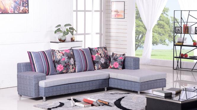 沙发布艺沙发小户型简约现代客厅沙发时尚小户型沙发 8001