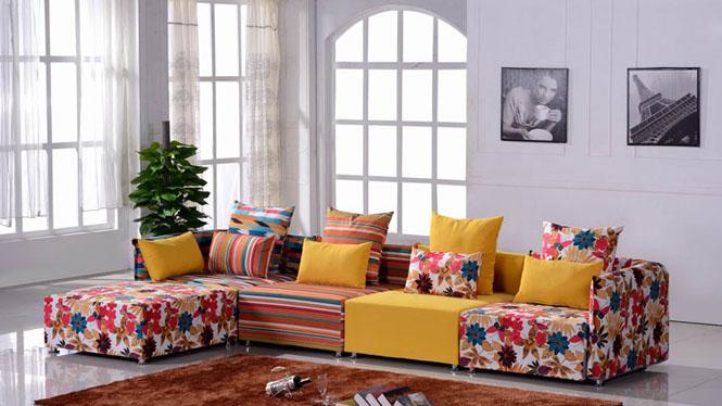 布艺沙发 布沙发 转角沙发 彩色沙发 小户型可水洗 A010