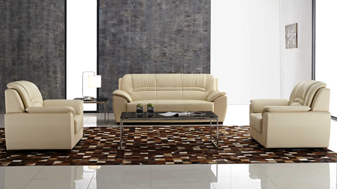 皮沙发 真皮沙发 现代客厅组合全友沙发头层牛皮皮艺沙发