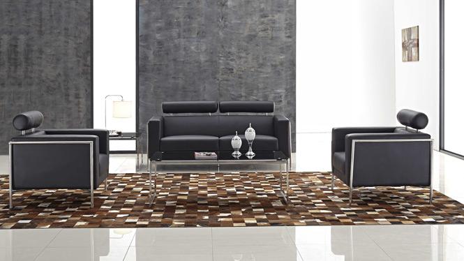 真皮沙发客厅沙发头层牛皮 皮艺沙发组合 现代风格皮沙发